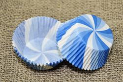 Форма для кексів Вертушка 50х30 50шт. (Блакитна)