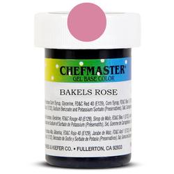 Пастообразный краситель Chefmaster Gel Base Color Bakers Rose (нежно-розовый) 28,35 г.