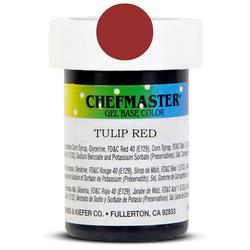 Пастоподібний барвник Chefmaster Gel Base Color Tulip Red (червоний тюльпан) 28,35 м