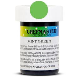Пастообразный краситель Chefmaster Gel Base Color Mint Green(мятно-зеленый) 28,35 г.