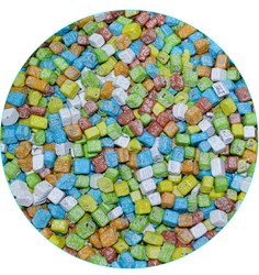Шоколадные камушки цветные 7-12 мм, 50  г.