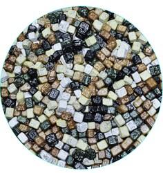 Шоколадные камушки темные 7-12 мм, 100 г.