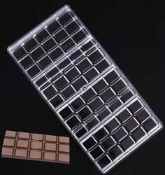 Поликарбонатная форма для шоколада Плитка большая 4шт