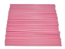 Палички для кейк-попсів Рожеві 50шт. висота 15 см д 5мм