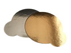 Подложка круглая D9,5 с держателем золото/серебро
