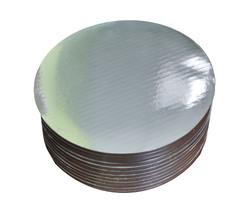 Поднос круглый d 25 см сер/сер