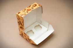 "Упаковка на 2 кекса ""Сладости"" 180*120*80  мм"