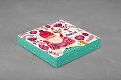 Коробка для конфет 185х185х30 Новогодняя  №1 на 16 шт