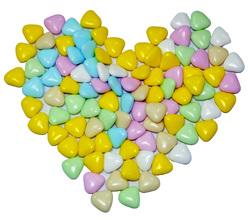 Сердца разноцветные 20-22 мм 100 г