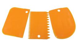 Набор фигурных пластиковых шпателей из 3 ед. №2