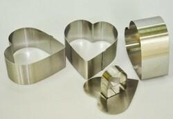 Форма металлическая для формировки Сердце из 3 ед.