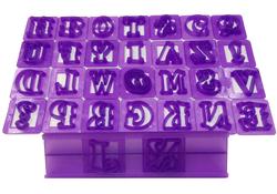 Вырубка алфавит английский с держателем (26 букв+3 символа)