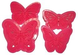 Набор вырубок Бабочки Ажурные из 4 ед