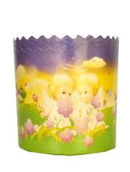 Форма пасхальная бумажная d130 Ангелочки №2