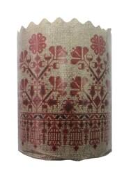 Форма пасхальная бумажная d130 Вышиванка №5