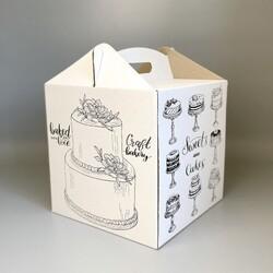 Коробка для торта 300х300х300 мм с принтом