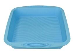 Форма силиконовая для выпечки прямоугольная 19,5*20,5 см рифленое дно с ручками