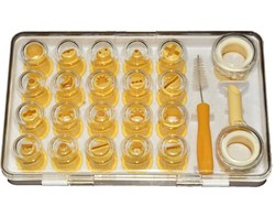 Набор пластиковых насадок 21 ед. с 2 переходниками и щеточкой
