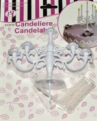 Подсвечник на 9 свечей (набор из 9 свечей в комплекте)