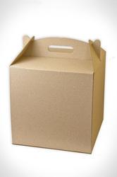 Коробка для торта 300х300х300 мм бурая