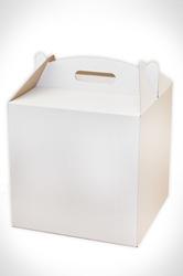 Коробка для торта 300х300х300 мм белая