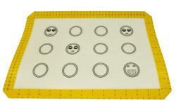 Коврик силиконовый универсальный 40x30 см Смайлики