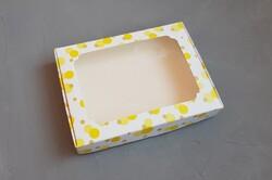 Коробка для пряників з віконцем 200х150х30 мм Жовта