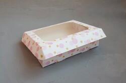 Коробка для пряников с окошком 200х150х30 мм Сиреневая