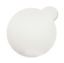 Подложка под торт круглая D9 с держателем однослойная белая