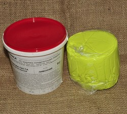 Мастика кондитерська Украса лимонна 1 кг
