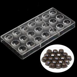 Поликарбонатная форма для конфет Драгоценные камни 21 шт.