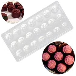 Поликарбонатная форма для конфет Розочки 21 шт.