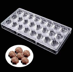 Поликарбонатная форма для конфет Ракушки 24 шт.