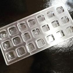 Поликарбонатная форма для конфет Квадрат 21 шт.