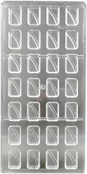 Поликарбонатная форма для конфет Прямоугольная с волной 28 шт.