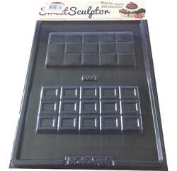 Молд пластиковый Плитка шоколада №1