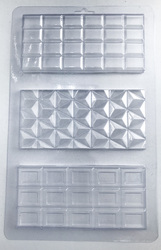 Молд пластиковый Плитка шоколада №3