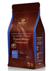 """Шоколад чёрный экстра-горький """"Cacao Barry Guayaquil"""", 64 % - 5 кг Оригинальная упаковка (CHD-P64EXBG-E4-U72)"""