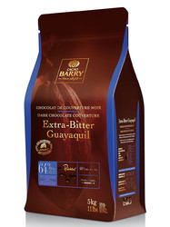 """Шоколад чёрный экстра-горький """"Cacao Barry Guayaquil"""", 64 % - 0,5 кг фасовка (CHD-P64EXBG-E4-U72)"""