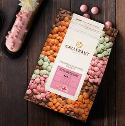 "Шоколад розовый со вкусом клубники ""Callebaut Strawberry "" 30 % - 0,5 кг фасовка (STRAWBERRY-E4-U70)"