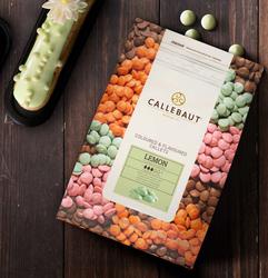 """Шоколад зеленый со вкусом лимона """"Callebaut Lemon """" 30 % - 0,1 кг фасовка (LEMON-E4-U70)"""