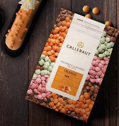 """Шоколад оранжевый с вкусом апельсина """"Callebaut Orange """" 30 % - 0,1 кг фасовка (ORANGE-E4-U70)"""