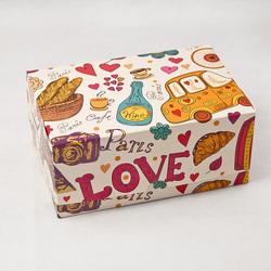 """Коробка-контейнер для тортов, чизкейков, пирожных """"Paris"""" 180*120*80 мм"""