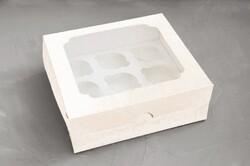 Упаковка на 9 кексов №2 250*240*90 с окошком мелованный картон