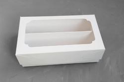 Коробка для макаронс Double 200х120х60 крейдована біла