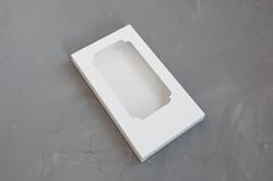 Коробка для шоколадки 160*80*17 мм белая