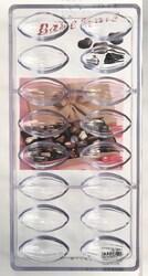 Поликарбонатная форма для конфет Миндаль большой 16 шт