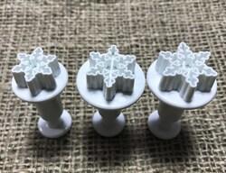 Набор плунжеров Снежинка мини из 3-х ед.