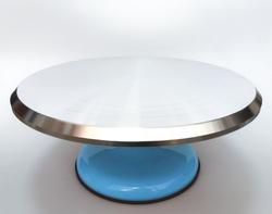 Підставка, що крутиться для роботи з тортом 300х150мм №3 Блакитна