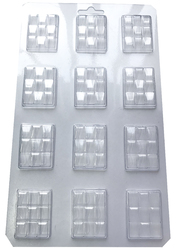 Молд пластиковый плитка шоколада микро С